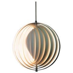 Original 1960s Midcentury Danish Modern Verner Panton Moon Pendant Light