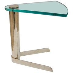 Drinks Table in Glass and Stainless Steel