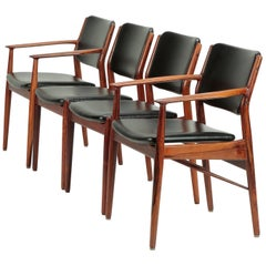 4 Arne Vodder Chairs Sibast, 1960s