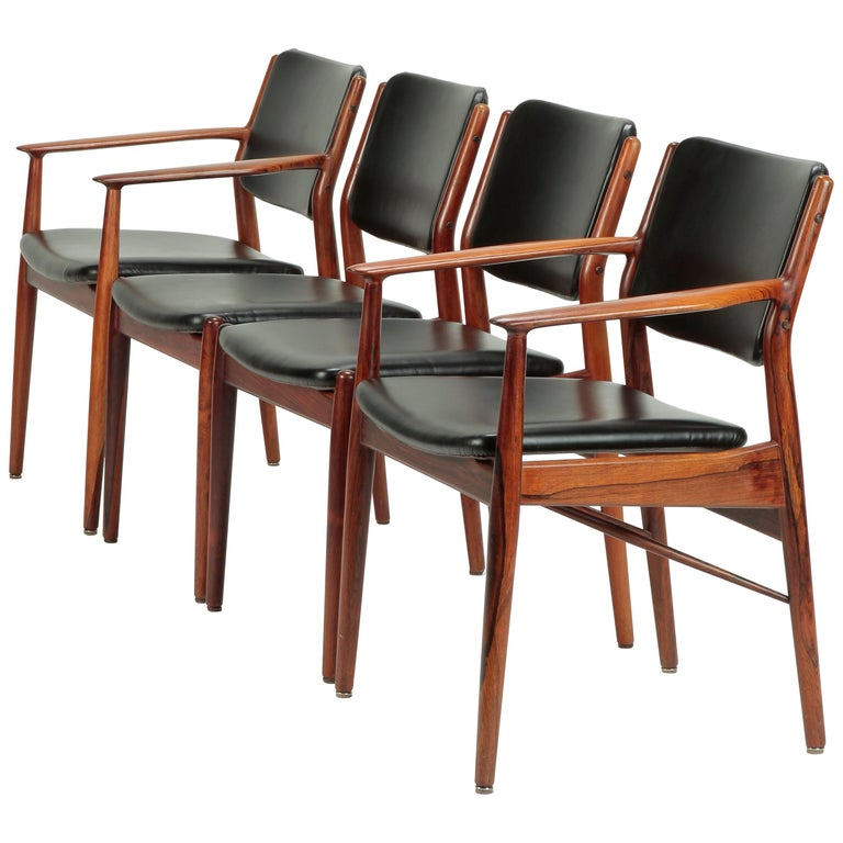 4 Arne Vodder Chairs Sibast, 1960s For Sale