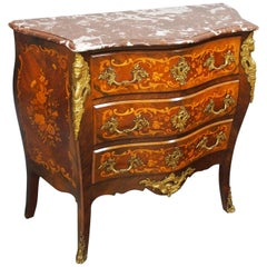 French Marble-Top Kingwood Commode