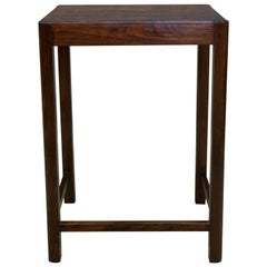 1930s Wooden Side Table with Fake Ivory Worktop by Thonet