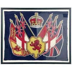 King George VI Coronation Framed Flag 1937