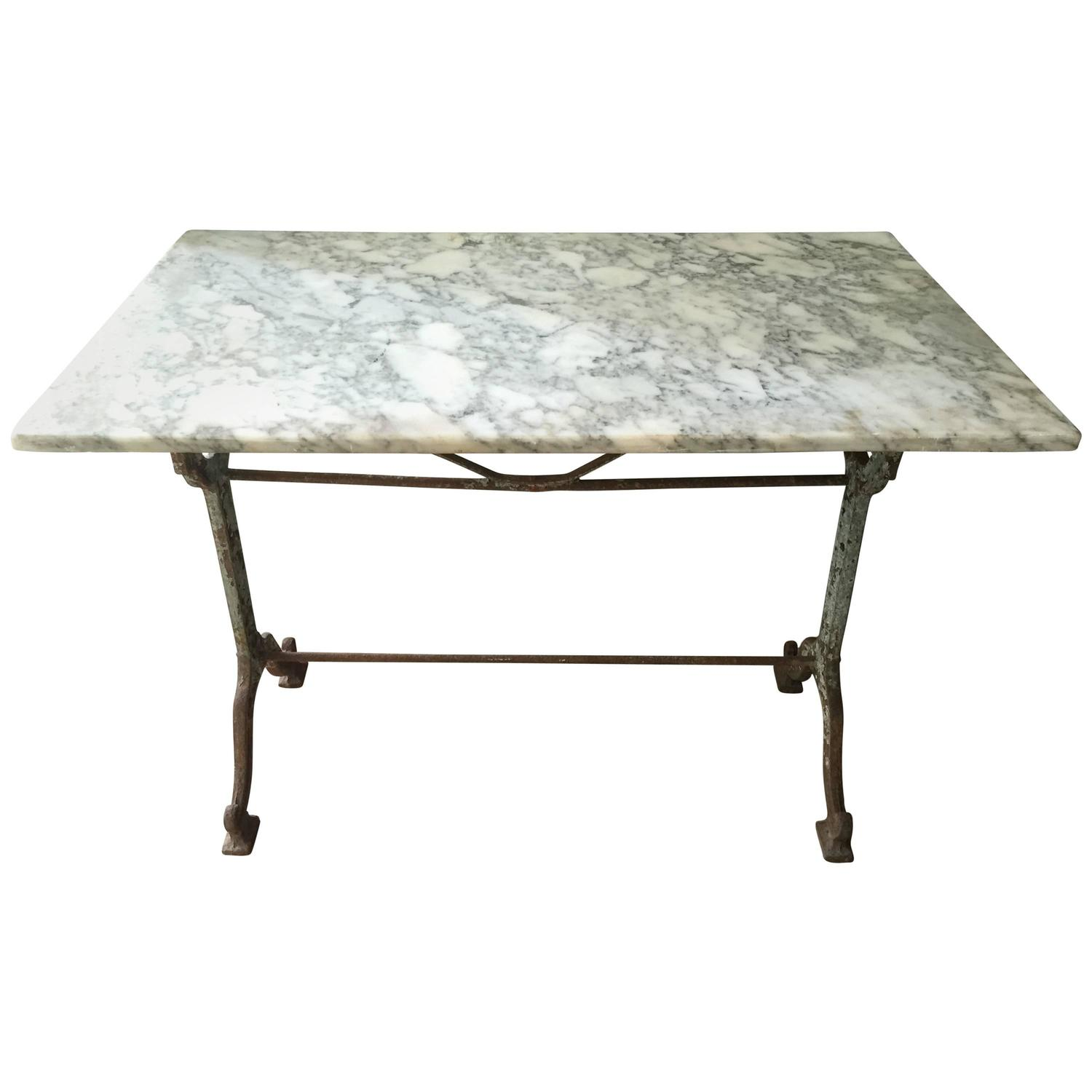 French Marble Bistro Table For Sale At 1stdibs