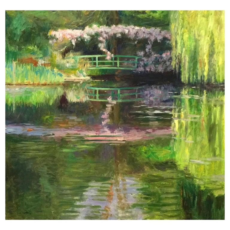 Monet's Bridge by Laurent Dareau For Sale