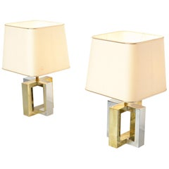Decorative Pair of Table Lamps by Belgo Chrome