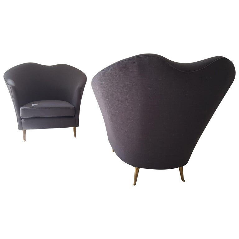 Pair of Armchairs by Cesare Lacca For Sale