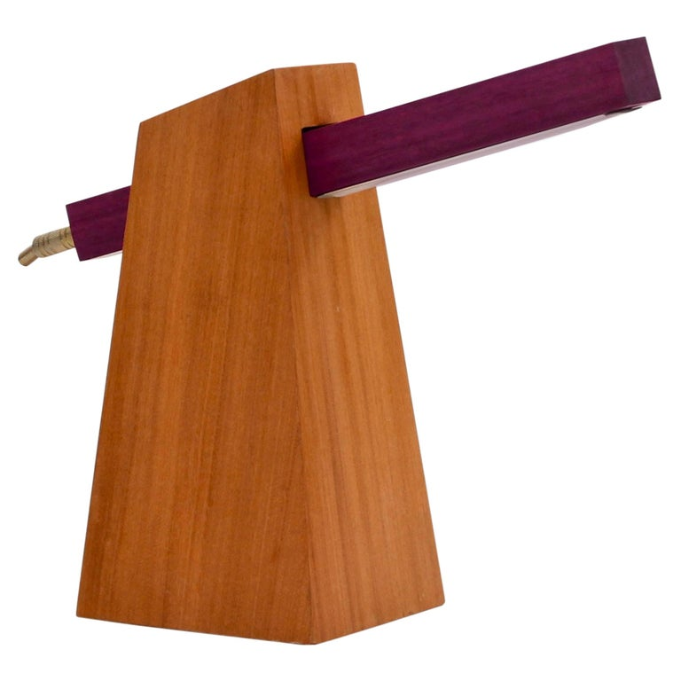 Table Lamp in Wood, Brazilian Contemporary Design by O Formigueiro For Sale