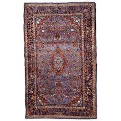 Handmade Antique Kashan Style Rug, 1900s, 1B706