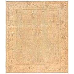 Soft Antique Decorative Turkish Oushak Rug