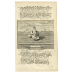 Antique Print of the 4th Mughal Emperor by Valentijn '1726'