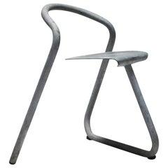 Danish Industrial Galvanized Stackable Chair by Erik Magnussen for Paustian