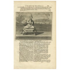 Antique Print of the 6th Mughal Emperor by Valentijn '1726'