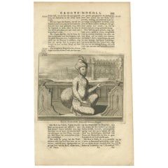 Antique Print of the 7th Mughal Emperor by Valentijn, 1726