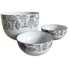 Kaj Franck Arabia Metal Bowls Set, 1950s