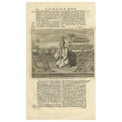 Antique Print of the 8th Mughal Emperor by Valentijn '1726'