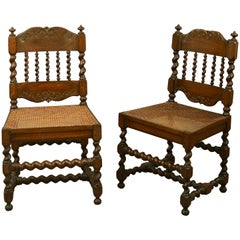 Early 18th Century Pair of Cape Dutch Stinkwood Chairs