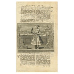 Antique Print of the 10th Mughal Emperor by Valentijn, 1726