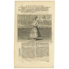 Antique Print of the 11th Mughal Emperor by Valentijn, 1726