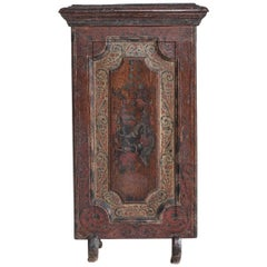 18th Century Dutch Painted Fire Screen, Dated 1780