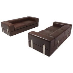 Daybed Sofa Set of 2 711 by Tito Agnoli for Cinova in Brown Leather