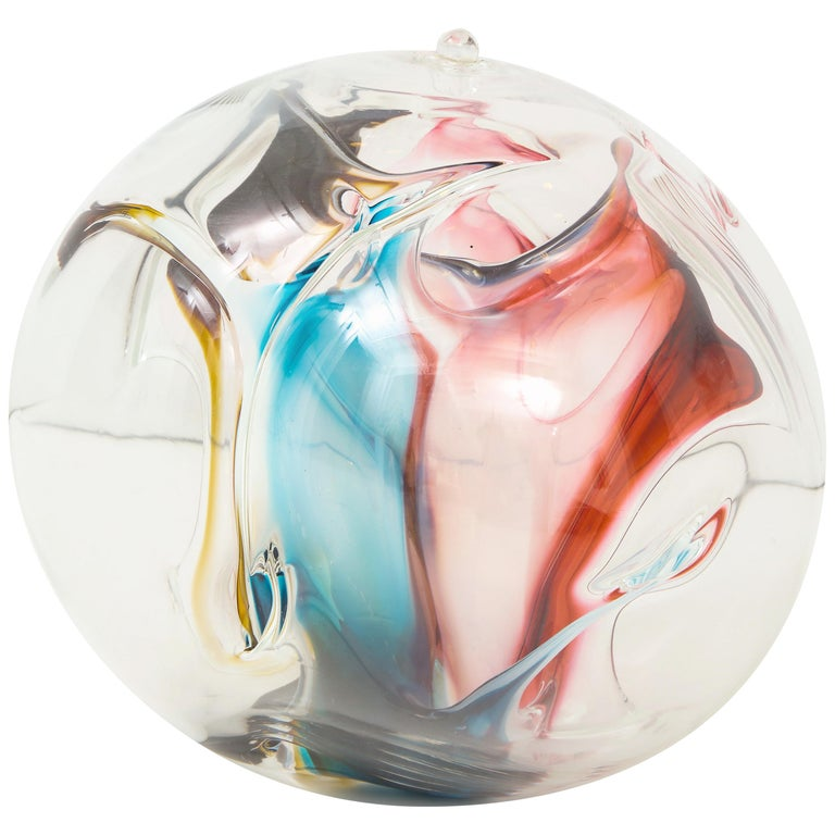 Peter Bramhall Glass Orb Sculpture For Sale