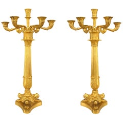 Pair of French Louis XVI Column Candelabras - 1stdibs New York