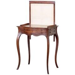 George III Figured Mahogany Ladies Writing Table
