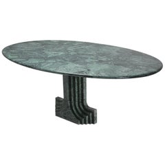 Carlo Scarpa Dining Table 'Samo' in a Rare Green Marble