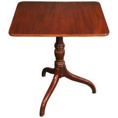 George III Small Mahogany Tilt-Top Table