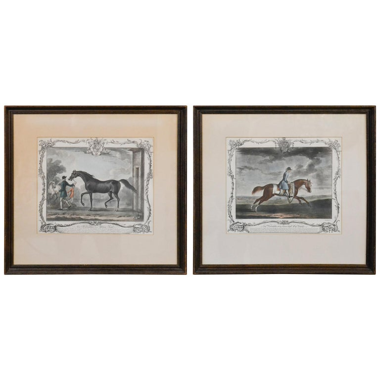 18th Century Pair of English Engravings For Sale