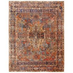 Room Size Antique Persian Sarouk Carpet