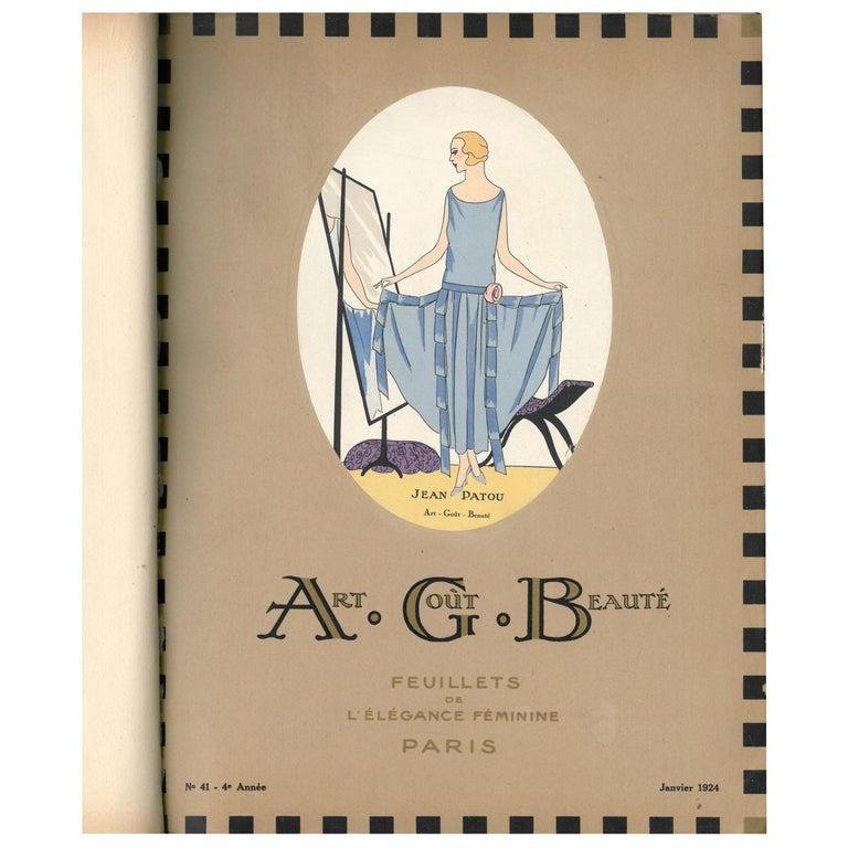 """""""ART, GOUT, BEAUTE. Feuillets de L'Elegance Feminine,"""" 12 Bound Copies from 1924 For Sale"""