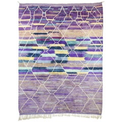 Contemporary Moroccan Rug with Postmodern Memphis Style, Berber Area Rug