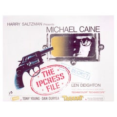 Original Film Poster for 'The Ipcress File' Starring Michael Caine, Dated 1965