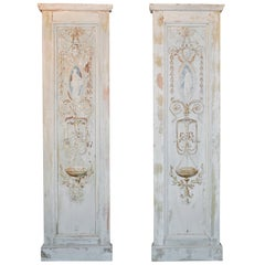 19th Century Pair of French Neoclassical Panels