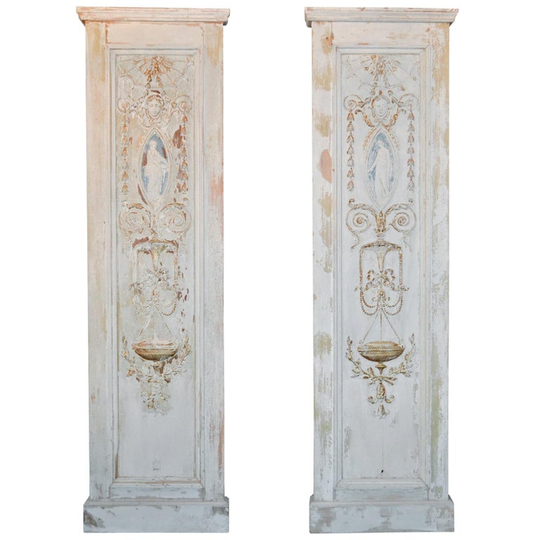 19th Century Pair of French Neoclassical Panels For Sale