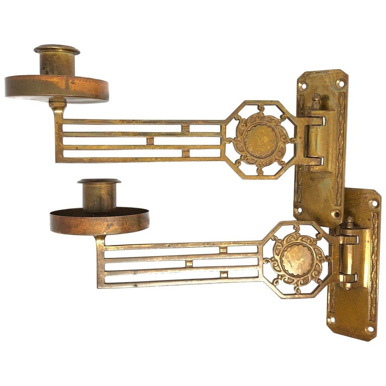 sports shoes 147c0 71f5a Two Original Art Nouveau Candle Sconce for a Piano or Wall, German, 1910s