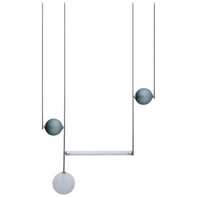Equalizer Collection Four-Piece Chandelier, 1stdibs New York For Sale