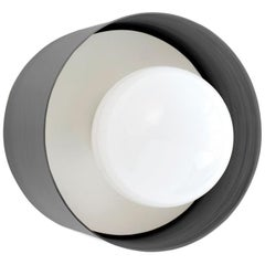 Spun Sconce Flush Mount Black- 1stdibs New York