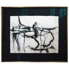 21st Century Signed Charcoal Drawing by Francine Turk