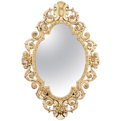 19th Century Oval Baroque Portrait Mirror