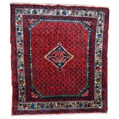 Handmade Vintage Hamadan Style Rug, 1980s, 1C131