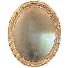 Wonderful French Large Oval Bronze Ormolu Garland Embossed Picture Frame
