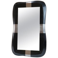 "Mirror in Oak and Pewter by Jacques Jarrrige ""Stanni"""