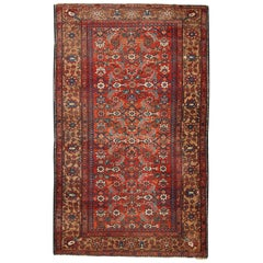 Handmade Antique Hamadan Rug, 1920s, 1C276