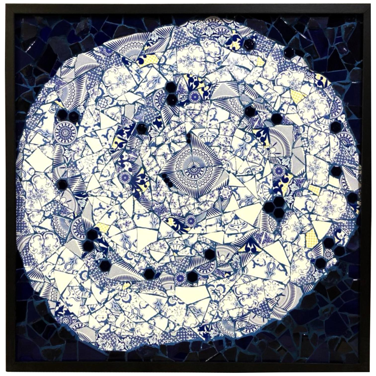 One of a Kind Contemporary Spiral Mosaic 01 by Brazilian artist Mariana Lloyd
