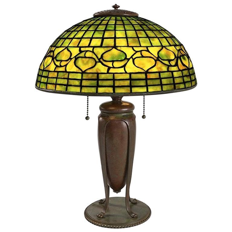 "Tiffany Studios ""Acorn"" Table Lamp For Sale"