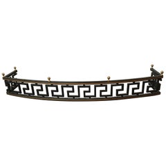 1960s Iron Greek Key Fire Place Fender