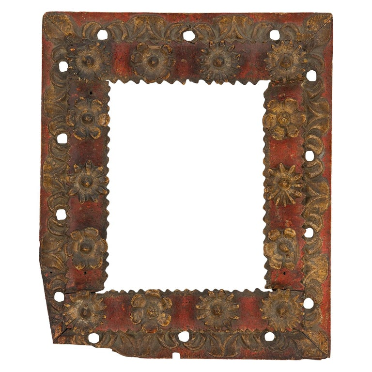 18th Century Spanish Colonial Carved Frame For Sale